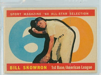 1960 Topps Baseball 553 Bill Skowron AS High Number New York Yankees Very Good to Excellent