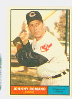 1961 Topps Baseball 5 Johnny Romano Cleveland Indians Fair to Good