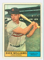 1961 Topps Baseball 8 Dick Williams Kansas City Athletics Very Good to Excellent