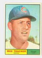 1961 Topps Baseball 12 Moe Thacker Chicago Cubs Very Good to Excellent