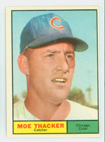 1961 Topps Baseball 12 Moe Thacker Chicago Cubs Excellent to Excellent Plus