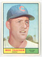 1961 Topps Baseball 12 Moe Thacker Chicago Cubs Near-Mint Plus