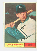 1961 Topps Baseball 13 Chuck Cottier Detroit Tigers Excellent to Excellent Plus