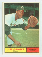 1961 Topps Baseball 18 Jim Grant Cleveland Indians Excellent to Excellent Plus
