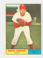 1961 Topps Baseball 20 Robin Roberts Philadelphia Phillies Very Good to Excellent