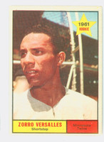 1961 Topps Baseball 21 Zoilo Versalles ROOKIE Minnesota Twins Excellent