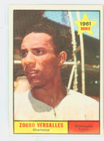 1961 Topps Baseball 21 Zoilo Versalles ROOKIE Minnesota Twins Excellent to Excellent Plus