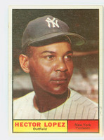 1961 Topps Baseball 28 Hector Lopez New York Yankees Excellent