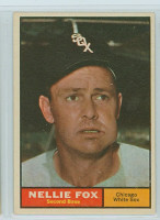 1961 Topps Baseball 30 Nellie Fox Chicago White Sox Excellent to Mint