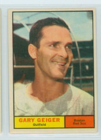 1961 Topps Baseball 33 Gary Geiger Boston Red Sox Excellent to Mint
