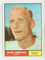 1961 Topps Baseball 34 Wynn Hawkins Cleveland Indians Very Good to Excellent