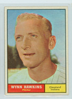 1961 Topps Baseball 34 Wynn Hawkins Cleveland Indians Excellent to Mint