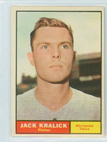 1961 Topps Baseball 36 Jack Kralick Minnesota Twins Excellent to Mint