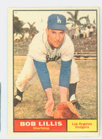 1961 Topps Baseball 38 Bob Lillis Los Angeles Dodgers Very Good to Excellent