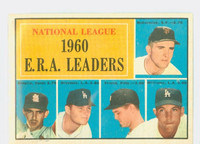 1961 Topps Baseball 45 NL ERA Leaders Excellent to Excellent Plus