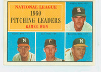1961 Topps Baseball 47 NL Pitching Leaders Very Good