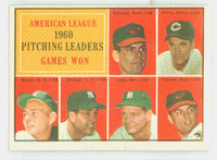 1961 Topps Baseball 48 AL Pitching Leaders Very Good to Excellent
