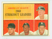 1961 Topps Baseball 50 AL Strikeout Leaders Very Good