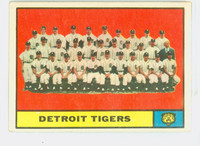 1961 Topps Baseball 51 Tigers Team Very Good to Excellent