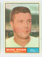 1961 Topps Baseball 53 Russ Nixon Boston Red Sox Excellent to Excellent Plus
