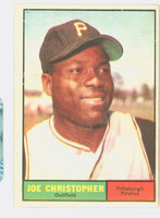 1961 Topps Baseball 82 Joe Christopher Pittsburgh Pirates Excellent to Excellent Plus