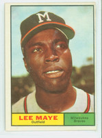 1961 Topps Baseball 84 Lee Maye Milwaukee Braves Excellent to Excellent Plus