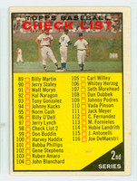 1961 Topps Baseball 98 Checklist Two CK RED  Very Good