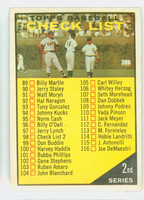 1961 Topps Baseball 98 b Checklist Two YL 98 BLACK  Excellent