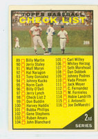 1961 Topps Baseball 98 c Checklist Two YL 98 WHITE  Very Good