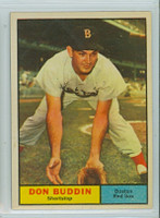1961 Topps Baseball 99 Don Buddin Boston Red Sox Excellent to Mint