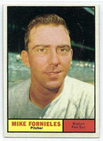 1961 Topps Baseball 113 Mike Fornieles Boston Red Sox Excellent to Mint