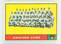 1961 Topps Baseball 122 Cubs Team Excellent
