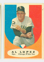 1961 Topps Baseball 132 Al Lopez Chicago White Sox Very Good to Excellent