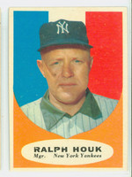 1961 Topps Baseball 133 Ralph Houk New York Yankees Very Good to Excellent