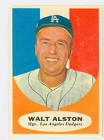 1961 Topps Baseball 136 Walt Alston Los Angeles Dodgers Very Good to Excellent