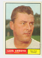 1961 Topps Baseball 142 Luis Arroyo New York Yankees Excellent