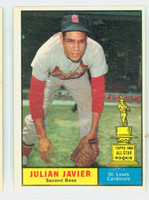 1961 Topps Baseball 148 Julian Javier St. Louis Cardinals Excellent to Excellent Plus