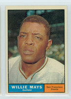 1961 Topps Baseball 150 Willie Mays San Francisco Giants Excellent to Excellent Plus