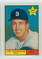 1961 Topps Baseball 151 Jim Donohue Detroit Tigers Excellent to Mint