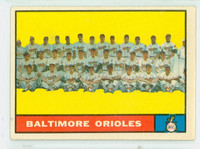 1961 Topps Baseball 159 Orioles Team Very Good to Excellent