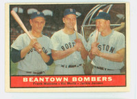 1961 Topps Baseball 173 Beantown Bombers Boston Red Sox Excellent