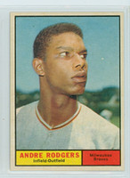 1961 Topps Baseball 183 Andre Rodgers Milwaukee Braves Excellent to Mint