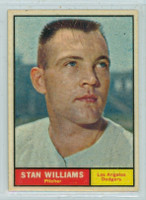1961 Topps Baseball 190 Stan Williams Los Angeles Dodgers Near-Mint
