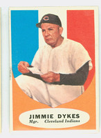 1961 Topps Baseball 222 Jimmy Dykes Cleveland Indians Excellent to Mint