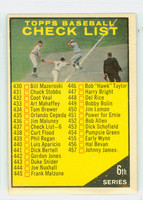1961 Topps Baseball 437 b Checklist Six LUIS  Very Good to Excellent