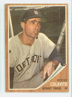 1962 Topps Baseball 20 Rocky Colavito Detroit Tigers Very Good to Excellent