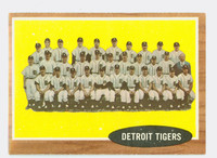 1962 Topps Baseball 24 Tigers Team Excellent to Mint