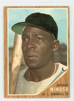 1962 Topps Baseball 28 Minnie Minoso St. Louis Cardinals Excellent