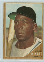 1962 Topps Baseball 28 Minnie Minoso St. Louis Cardinals Excellent to Excellent Plus