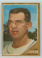 1962 Topps Baseball 33 Don Larsen San Francisco Giants Excellent to Mint